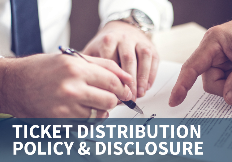 Ticket Distribution Policy