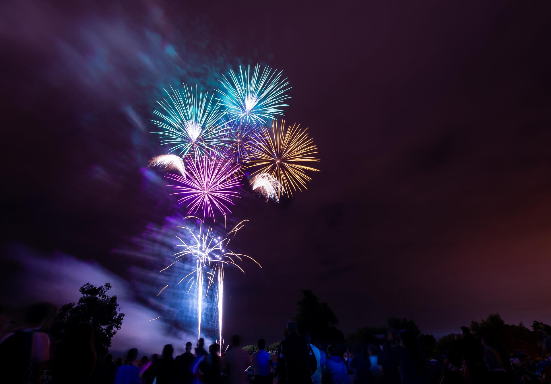 Fireworks display at city Fourth of July event