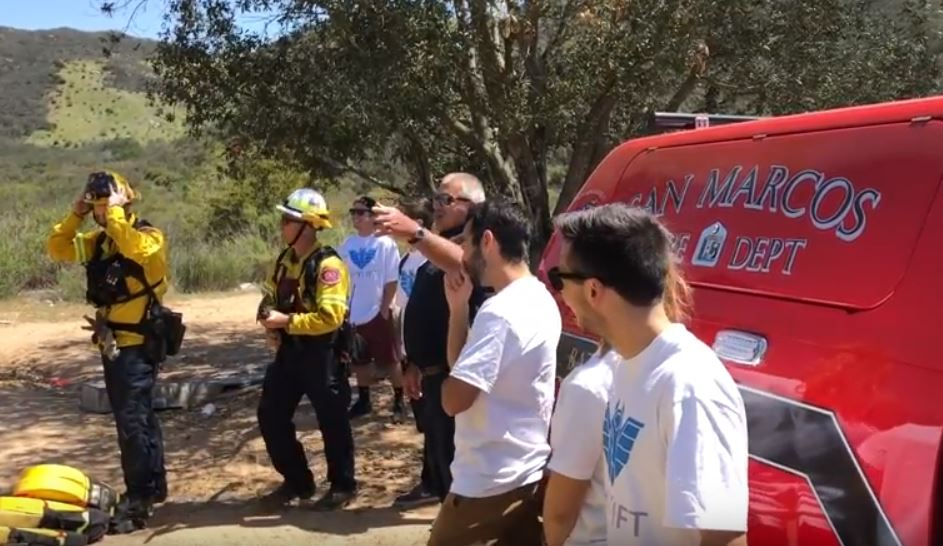 San Marcos Fire Department works with CSUSM students to innovate new ways to manage wildfire