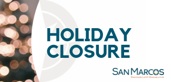 San Marcos facilities to close for the holidays