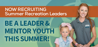 Now hiring: summer recreation leader icon