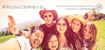 #DiscoverSanMarcos -- share your favorite San Marcos moments on Instagram at sanmarcoscity