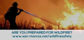 Are you prepared for wildfire graphic with website link