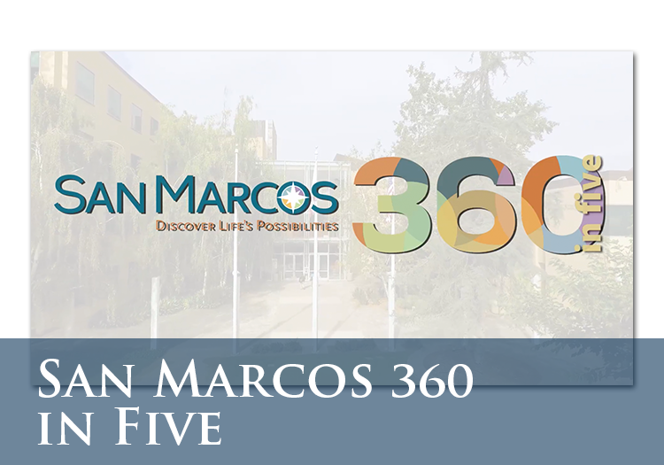San Marcos 360 in Five Icon