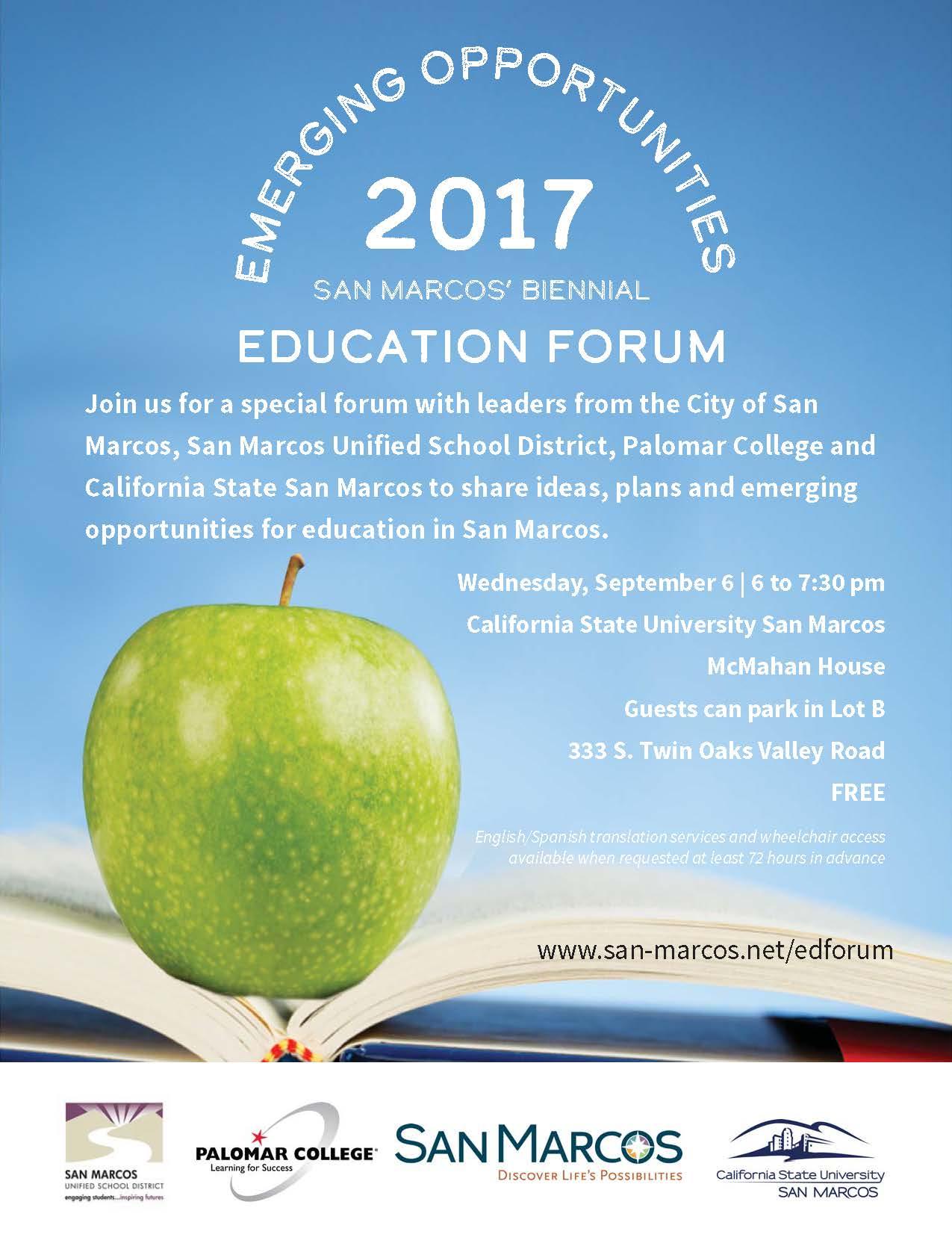 2017 Education Forum Invitation