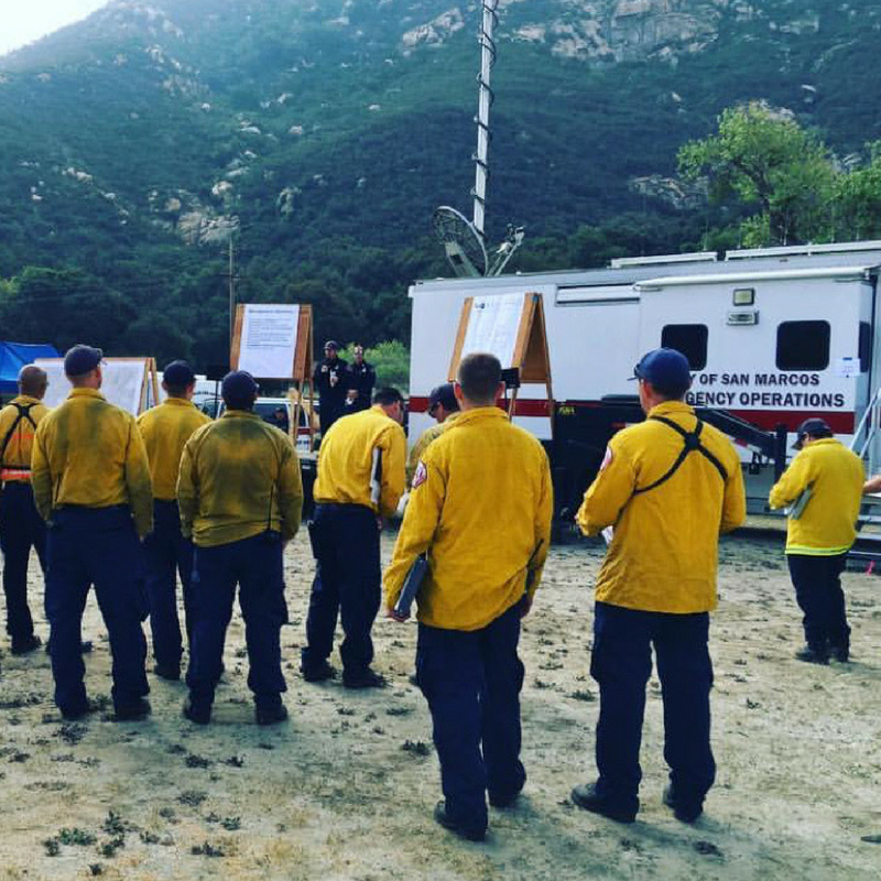 SMFD participates in San Diego County  Wildland Fire Drill